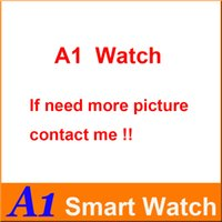 su geçirmez hücre izle toptan satış-A1 Smartwatch DZ09 U8 GTO8 Bluetooth Akıllı Izle Su Geçirmez Akıllı İzle Iphone Android Cep telefonu Için Perakende Kutusu ile 1.54 ...