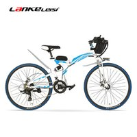 Wholesale folding electric bike lithium battery - K660 24 inches, 48V 12Ah Folding Electric Bicycle, Full Suspension, Disc Brakes. E Bike.