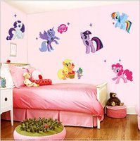 Wholesale Disposable Paper Glass - 1pcs for pony cartoon wall sticker for on the wall indoor decoration removable Free shipping