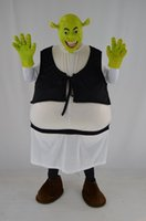Wholesale Shrek Clothes - Shrek green monster mascot costume adult costume Halloween costume Christmas party animal cartoon adult size clothing