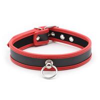 Wholesale dog collars bondage for sale - Bdsm PU Leather Dog Slave Collar Bondage Belt In Adult Games For Couples Fetish Sex Toys For Women