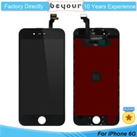 Wholesale Full Color Display - Grade AAA for iPhone 6 LCD Display Touch Digitizer Complete Screen Replacement with Frame Full Assembly Parts Black White Color
