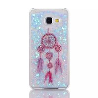 Dreamcatcher Quicksand étoiles Hard Case pour Samsung Galaxy A310 A510 Grand-Premier G530 S5 S6 bord NOTE3 REMARQUE4 note5 Liquid Bling Cover Mode