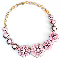 Livraison gratuite Rose Hand Making Flower Statement Chunky Necklace, Nouveau Design Sweet Girl Necklace, Bijoux en gros