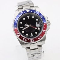 Wholesale Mens Sapphire Automatic Watch - Hot seller Mens Watch Automatic Movement Mechanical Red Blue Bezel Sapphire Glass Original Clasp Stainless Steel Men Watches free shipping