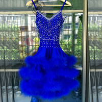 Wholesale Dresses Latin Children - Custom Adult Child Ballroom Latin dance costume sexy senior tassel beads latin dance dress for women latin dance compeititon dresses S-4XL