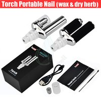 Wholesale One Vaporizer Torch - One pcs sale Yocan Torch Portable eNail Vaporizer Kit Wax dry herb vape Pen Quartz Dual Coil Herbal vapor vapor Nail bong Kits