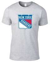 Wholesale Nhl Shirts - NEW YORK RANGERS T-SHIRT HOCKEY NHL JERSEY PLUS SIZES SMALL-3XL TEE Short Sleeves 100% Cotton Simple Style