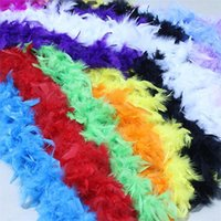 Wholesale Dresses Turkey Wholesalers - 2Meters Turkey Feather Strip Wedding Marabou Feather Boa Burlesque Fancy Dress party decoration Color optional c305