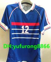 1998 FRANCE RETRO VINTAGE ZIDANE HENRY MAILLOT DE FOOT Thailand Quality soccer  jerseys uniforms Football Jerseys shirt Embroidery e4d77a882
