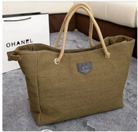 Wholesale Jute Hand Bags - Wholesale-Large Jute Women Messenger Hand Bags Designer Vintage Handbag Ladies Beach Shoulder Bag Shopping Tote Shopper Bolsa Feminina