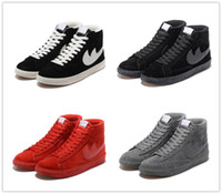 Wholesale Women Black Blazer Cheap - 2017 Hot Sale Men Women Casual BLAZER LOW PRM VNTG Training Shoes Winter Cheap Outdoor Good Quality Sneakers Free Shipping Size 36-44
