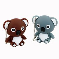 Cute Koala USB Flash Stick 8GB Animal Silicone USB 2.0 Flash Drive Real 1GB 2GB 4GB 16GB Cartoon Pendrive