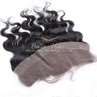"Wholesale Malaysian Hair Free Shipping - Natural Color Body Wave Human Hair Extensions 13""x4"" Malaysian Lace Frontal Closure Hair Pieces Free Shipping Bella Hair"
