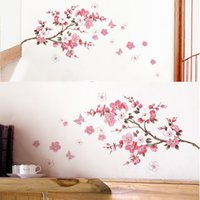 Sakura Flower Chambre Chambre PVC Decal Art DIY Home Décor Wall Sticker Autocollants amovibles Transparent Poster Fond d'écran