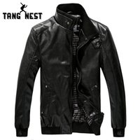 Wholesale Leather Jacket For Large Men - Fall-2016 Hot-selling New Arrival Men's Winter Leather Jacket Fashion Outwear Casual Coat Large Size XXXL Popular For Male MWP012