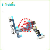 Wholesale lcd switch resale online - Power Button Switch Flex Cable With Metal Button Smart Phone Replacement Part For iPhone C fast shipping