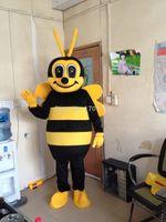 sarı elbise karikatür toptan satış-Bumblebee arılar maskot kostüm yetişkin boyutu sarı maskot kostüm arılar maskot karikatür giyim yüksek kaliteli PROM elbise ücretsiz kargo