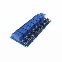 arduino için 5v röle modülü toptan satış-Optocoupler 8-channel röle ile toptan-Ücretsiz nakliye röle kontrol paneli PLC röle 5 V modülü arduino için stokta sıcak satış