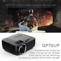 Android 4.4 Mini projecteur LED 1080P HD Projecteur avec Google Play 1G RAM 8G ROM Support Bluetooth Wifi TV Beamer GP70UP Cinéma maison