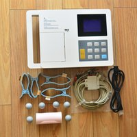 Wholesale Ecg Ekg - free shipping 6 channel 3.8in ecg EKG, Electrocardiograph, CE Approved ECG 6 Channel 12 Leads ECG Machine with Manual   Auto   Analys