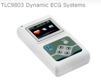 Wholesale Monitor Cable Ecg - ECG Monitor TLC9803 Portable Cable 24 Hour Heart Monitoring 3 Channels Recordable Dynamic ECG Holter System Multiparametro