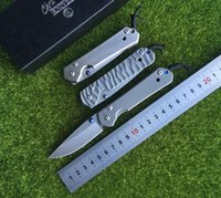 Novo Chris Reeve <b>Large Sebenza 21</b> Style Titanium Handle D2 lâmina de aço Folding Pocket Knife camping Tactical survival knives edc tool