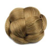 Wholesale bun braid for sale - Group buy 6 Colors Braided Clip In Fake Hair Bun Hair Chignon Fast Bun Donut Roller Hairpieces