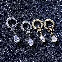 Wholesale Dropping Earring Good Quality - Korean fashion temperament drop shaped earring popular single product 34mm*15mm ladies' party jewelry made by master good quality and brand