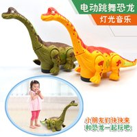 Wholesale Dinosaur Battery Toy - Electric toy large size walking dinosaur robot With Light Sound Brachiosaurus Battery Operated kid Children Boy Girl Gift