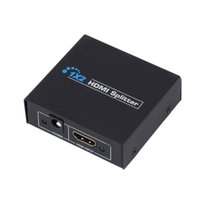 Wholesale Audio Out Cables - HDMI Splitter 2 Port 1x2 HDMI Switch 1 In 2 Out Switcher Support HDTV 1080P With Power Cable For Audio Video DVD