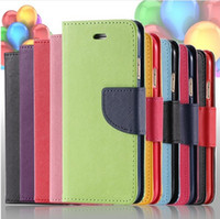 Wholesale Stand For Galaxy S3 - Flip Full PU Leather Cover Case for Samsung Galaxy S5 I9600 S4 I9500 S3 I9300 Wallet Stand Holder Card Slot 12 Colors With Logo