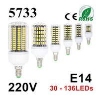 Wholesale Lampe E14 - SMD 5733 Chip Lampada Led Lamp E14 E27 220V Bombillas Led Bulb Ampoule Led Light Bulb 30-136LEDs Spotlight Lamparas Spot Lampe
