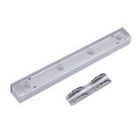 Wholesale Shaking Sensor Motion Detector - Wholesale- LED Light Shaking Sensor Motion Detector Drawer Closet Kitchen Lamp White