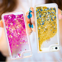 glitter cas étoile Quicksand liquide Flottant à bord galaxyS7 S7 Hard Case Cover brillant transparent clair pour iPhone4 5S 6S iphone 6 plus