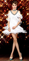 Wholesale Flapper Dress Halloween Costume - 1920s Sexy V Neck Beaded Vintage Sequin Flapper Lady Gatsby Dresses Halloween Costumes Clothes Dance Wear Fringe Tassel Prom