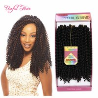 Wholesale curly weave for braiding - Free shipping synthetic braiding hair pre looped savana jerry Curly Braids Hair Extensions Ombre Hair Weaves Brazilian for black women