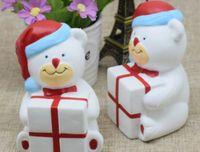 Wholesale Tang Dynasty Wholesale - 10PCS lot -kawaii squishy 11cm JUMBO christmas bear gift slow rising rare squishy wholesale chinese cheap FREE SHIPPING