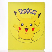 Wholesale For Ipad Mini quot Air tablet Cartoon Pikachu Poke Smart Leather Case Stand Pouch Soft TPU Pika Pocket Monster Skin Cover