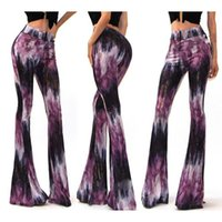 Wholesale Legging Lycra Galaxy - Hot Summer Women Pants Casual Flare Wide Leg Long Pants Printing Galaxy Trousers Space Plus Size S-XL