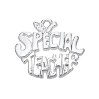 Charms special teacher - My Shape Engraved Special Teacher Charms Jewelry Beauty Antique Silver Plated Pendant for Necklaces Bracelets Man Woman Gifts