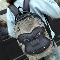 Wholesale Girls Teenage Fashion - Silica Gel 3d Stereo Gorilla Backpack Hot Mochila Escolar Women's Bags Fashion Ladies Mochilas Teenage Girls Feminina Masculina