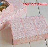 Wholesale Cake Boxes Packaging Pattern - Wholesale-168*112*49mm Pink Vintage white Pattern series DIY Multifunction Portable Packing box Cake box Package paper wholesale