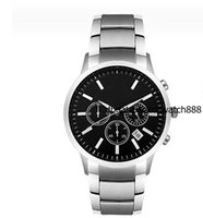 sport absolute - Brand New luxury Top quality Absolute luxury New Gent Chronograph Watch AR2434 Mens Stainless Steel Black Dial Wristwatch
