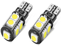 10pcs weißes T10 5050 9-SMD W5W Auto LED-Licht Canbus FEHLER FREIES Birnen-Lampe Wedge Lightpcs-White-T10-5050-9-SM