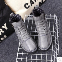 Wholesale Korean Flats Boots - Autumn new short boots Korean casual short boots women 's short spring and a single flat - bottomed boots soft female Martin boots
