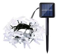 dış mekan yılbaşı dekorasyonları güneş aydınlatma toptan satış-LED Güneş Dize Işıkları Açık, Renkli Yusufçuk 20 LEDs 16 Metre AçıkParty Noel Süslemeleri için Su Geçirmez Yıldızlı Peri Aydınlatma