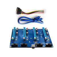 Wholesale Pci Express Cable Extension - 60cm PCIE 1X To 16X Riser Card Extension Adapter 1 To 4 PCI Express USB3.0 Cable For Bitcoin Mining Machine