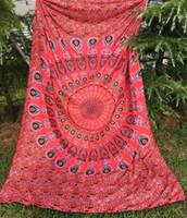 Wholesale Woven Tapestry Throw Blanket - Wall Decor Hippie Tapestries Bohemian Mandala Tapestry Wall Hanging Indian Throw Blanket 150*210cm Yoga Mat Pinic Sheet Wall Art BKT100