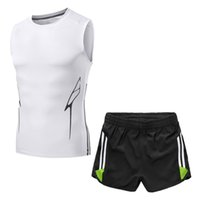 Wholesale Men Sport Suits Famous Brand - Men's casual Sports T-shirt Two piece suit Original famous brand T-shirts Basketball football clothes Running Sportswear suit T-shirt NO.301